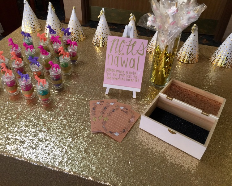 party favor table