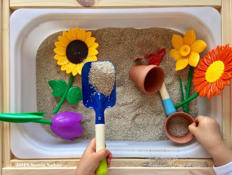 garden sensory bin 2
